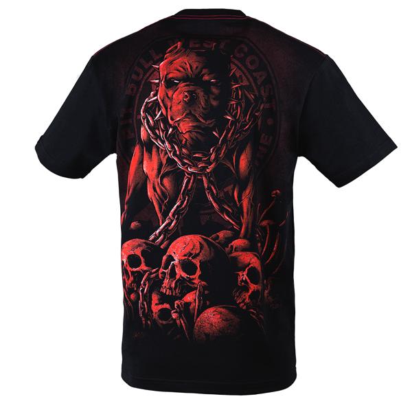 Pit Bull Koszulka SKULL DOG 17 Czarna