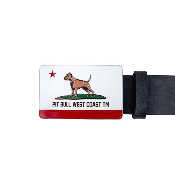 Pit Bull Pasek Skórzany CALIFORNIA DOG Czarny