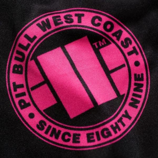 Pit Bull Rashguard damski długi rękaw ZIGZAG PINK Czarny