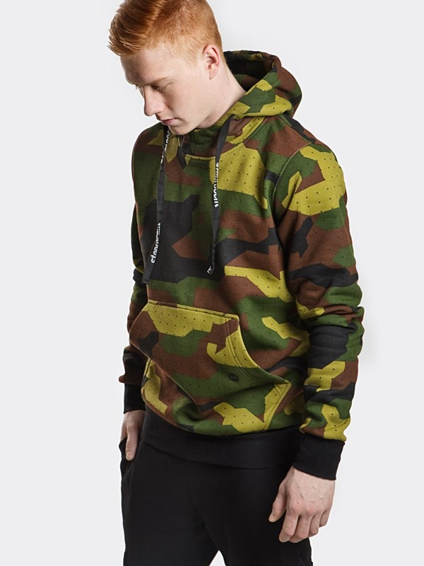 Stoprocent Bluza z kapturem BMC Camo Green