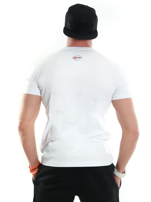 Stoprocent Koszulka Ćpaj Sport Simple Biała