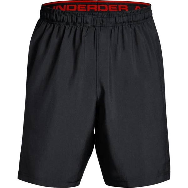 Under Armour Spodenki WOVEN GRAPHIC SHORT Czarne